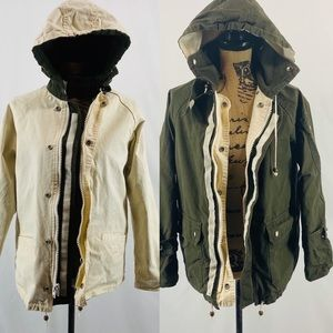Lord & Taylor Reversible Utility Hooded Jacket